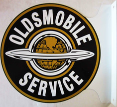 "Oldsmobile Service Flange Sign 12"" Diameter - $60.00"