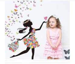 Personality Fairies Girl Butterfly Flowers Art ... - $7.99