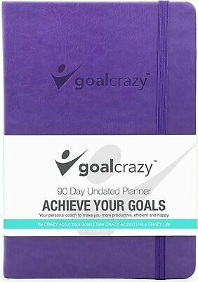 Goal Crazy 2019 Planner - 90 Day Productivity Journal, Black Leather, Undated image 10