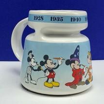 Walt disney store mug cup disneyland world Mickey Mouse Today fantasia w... - $28.80