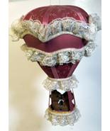 Vintage Cute Teddy Bears Love Music Box Hanging Air Baloon SANKYO - $37.99