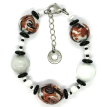 BRACELET ANTIQUE MURRINA VENICE BR801A15, TESE, MURANO GLASS, SPHERES WHITE image 2
