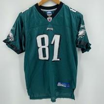 Reebok Football Jersey Youth XL Green Philadelphia Eagles #81 Terrell Owens - $4.95