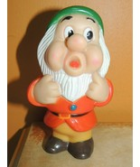 "Vintage Dwarf Bashful Rubber Squeak Toy 5"" Walt Disney Productions 7 dwa... - $13.49"