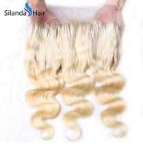 Silanda Hair Brazilian Remy  Human Hair 360 Lace Frontal Closure Body Wave #613 - $129.90+