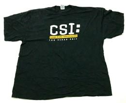 VINTAGE CSI Las Vegas Shirt Mens Size 2XL XXL Black Short Sleeve Crime S... - $17.83