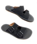 NWOB Clarks Collection Paylor Pax 2 Strap Slide Sandals Black Women's 8M - $29.65