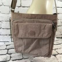 "Kipling Womens Purse Gray Shoulder Bag 11""x9"" - $29.69"
