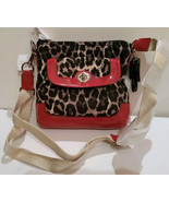 Coach Park Ocelot Leopard Print Swingpack Mini Crossbody Bag Authentic  - $118.75