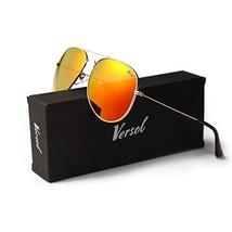 Versol Aviator Sunglasses for Men Women Polarized Metal Frame and UV 400... - $14.22