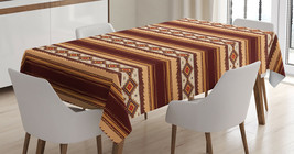Native American Patterns Tablecloth Ethnic Tribal Dining Table Linen Cov... - $28.12