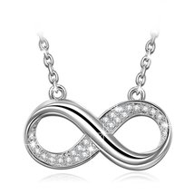 """Infinite Forever"" Infinity Bib Necklace-with Luxury Jewelry Box as Vale... - $59.95"