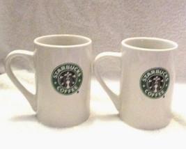 Starbucks Green Mermaid Siren Logo Set 2 Mugs 2008 - $12.41
