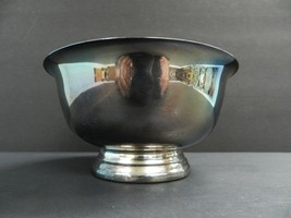 """VINTAGE Unmarked Paul Revere Silver Plate Bowl 6-3/16""""x3.25"""" tall - $29.70"""