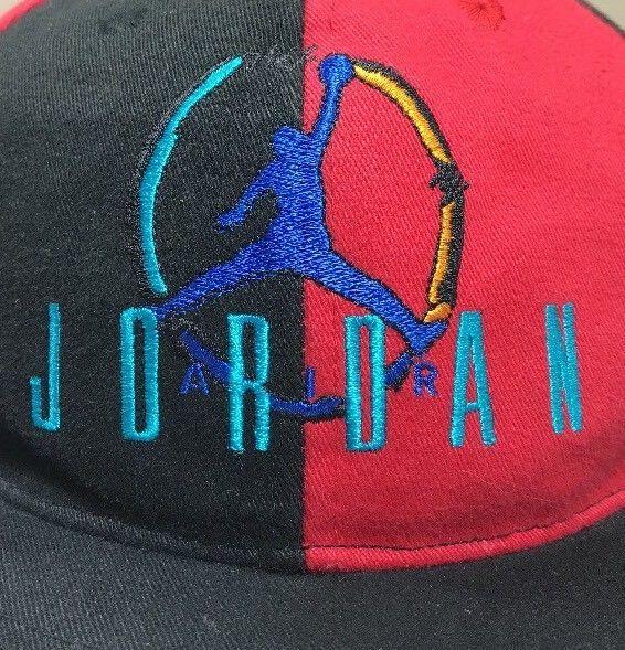 VTG Nike Hat Air Jordan Snapback Hat Youth Cap 90's Flight OG Bulls Michael