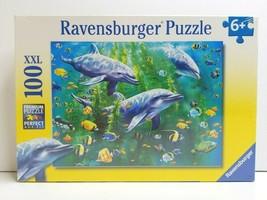 Dolphin Trio Ravensburger Jigsaw Puzzle 100 XXL Piece Format Puzzles SEA... - $29.69