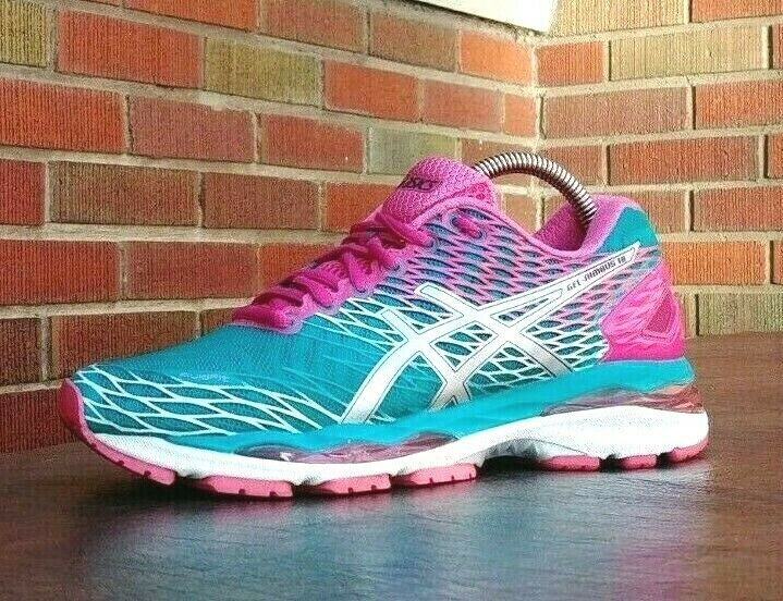 Womens Asics Gel Nimbus 18 Running Shoes SZ 7 Used Sneakers Trainers