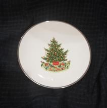 Vintage Gorham Fine China Christmas Plate - Platinum Edge - Rare - $34.00