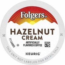 FOLGERS HAZELNUT CREAM FLAVORED COFFEE K-CUP PODS FOR KEURIG K-CUP BREWERS - $62.35