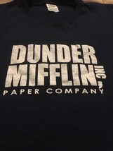 "Dunder Milfflin Paper Company Inc ""The Office"" TV Show Blue Graphic Tee Men's 2X - $10.00"
