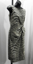 New Anne Klein Multi Color Animal Print Polyester Sleeveless Sheath Dres... - $59.99