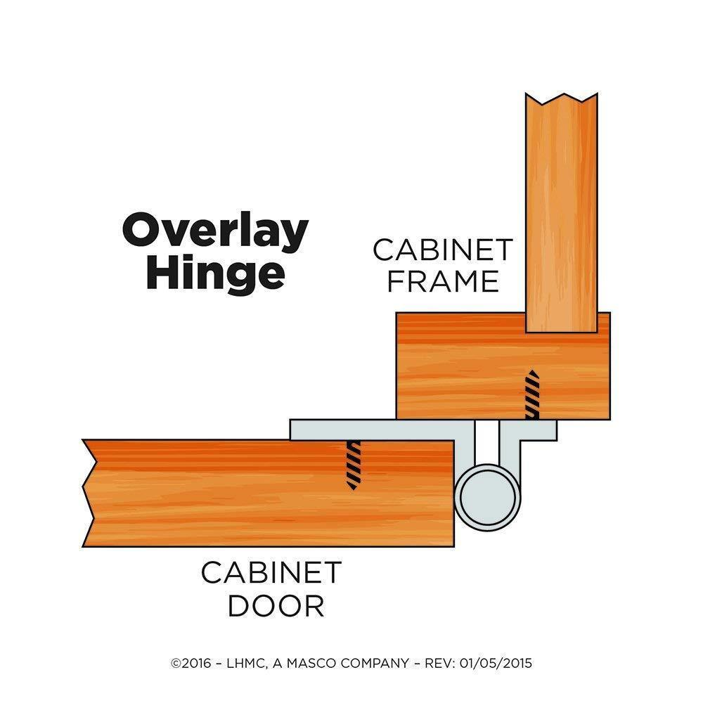 Lot 8 LIBERTY H01010C-CHR-O2 Overlay Hinge without Spring