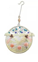 Baby Sea Turtles Momma Beach Ornament Metal Fair Trade Pilgrim Imports New - £19.16 GBP