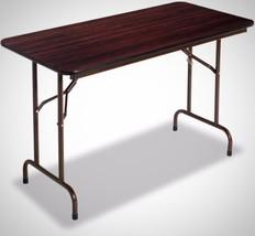 Walnut Folding Portable Table Gravity Leg Locki... - $121.76