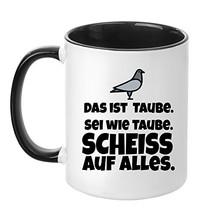 Tasse mit Spruch - Taube - beidseitig bedruckt - Teetasse - Kaffeetasse ... - $21.88