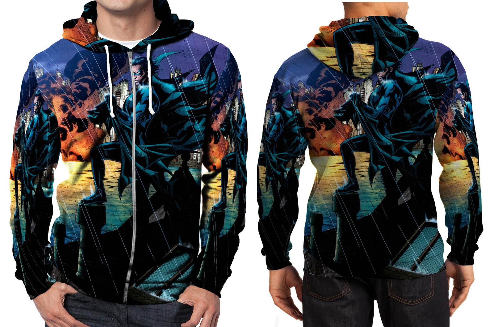 Nightwing night rain zipper hoodie men s