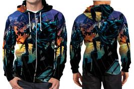 Nightwing night rain zipper hoodie men s  thumb200
