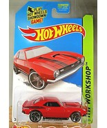 2014 Hot Wheels #224 HW Workshop-Then and Now '68 COPO CAMARO Red Varian... - $8.75