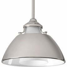 Progress Lighting P500013-104 Carbon One-Light Pendant with Metal Shade, Polishe - $172.92