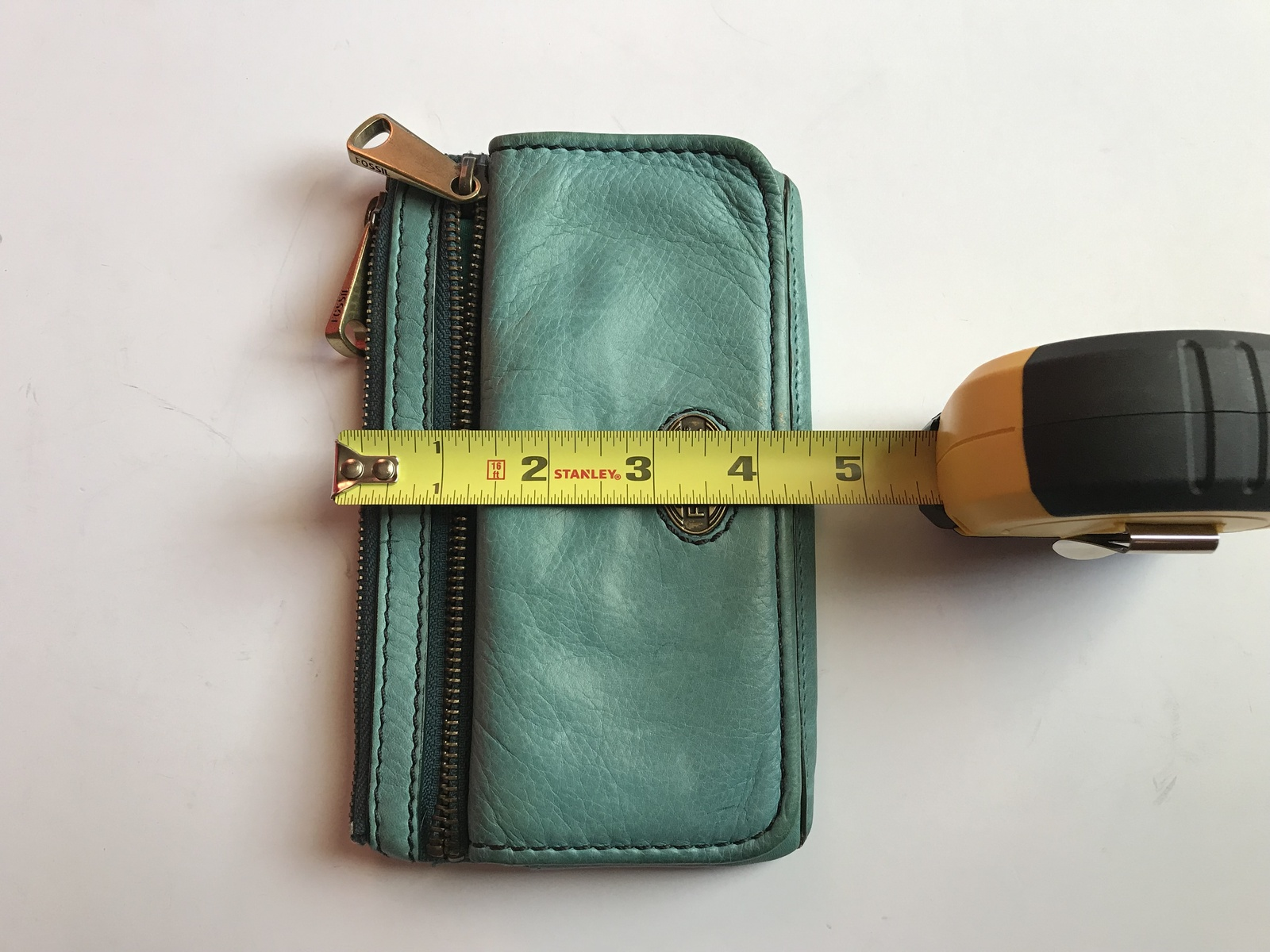 Fossil Explorer Teal Color Flap Clutch Wallet