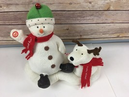 Hallmark Jingle Pals Snowman Dog Jingle Bells Plush Singing Shakes 2004 - $29.67