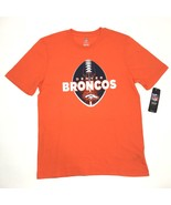 NFL Denver Broncos Football Shirt NEW Men XL Orange Short Sleeve Tee - $20.00