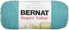 Bernat Super Value Solid Yarn-Aqua - $10.09