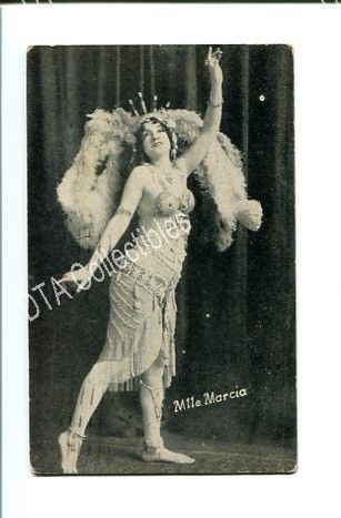 Primary image for PIN-UP GIRL-ARCADE CARD-1920-MLLE MARCIA FR/G