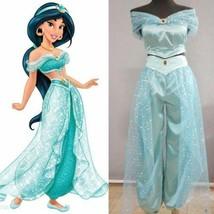 Disney Princess Jasmine Aladdin Adult Cosplay Suit Costume cos  :LUY20 - $44.06