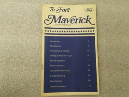 1976 FORD MAVERICK Owners Manual 15877 - $16.78