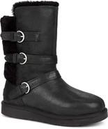 UGG Womens Australia Becket Black Trio Leather Sheepskin Boots Size 5 NIB - $115.19