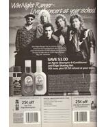 1987 Night Ranger Agree Shampoo Edge Gel Print Ad Vintage Advertisement ... - $7.92