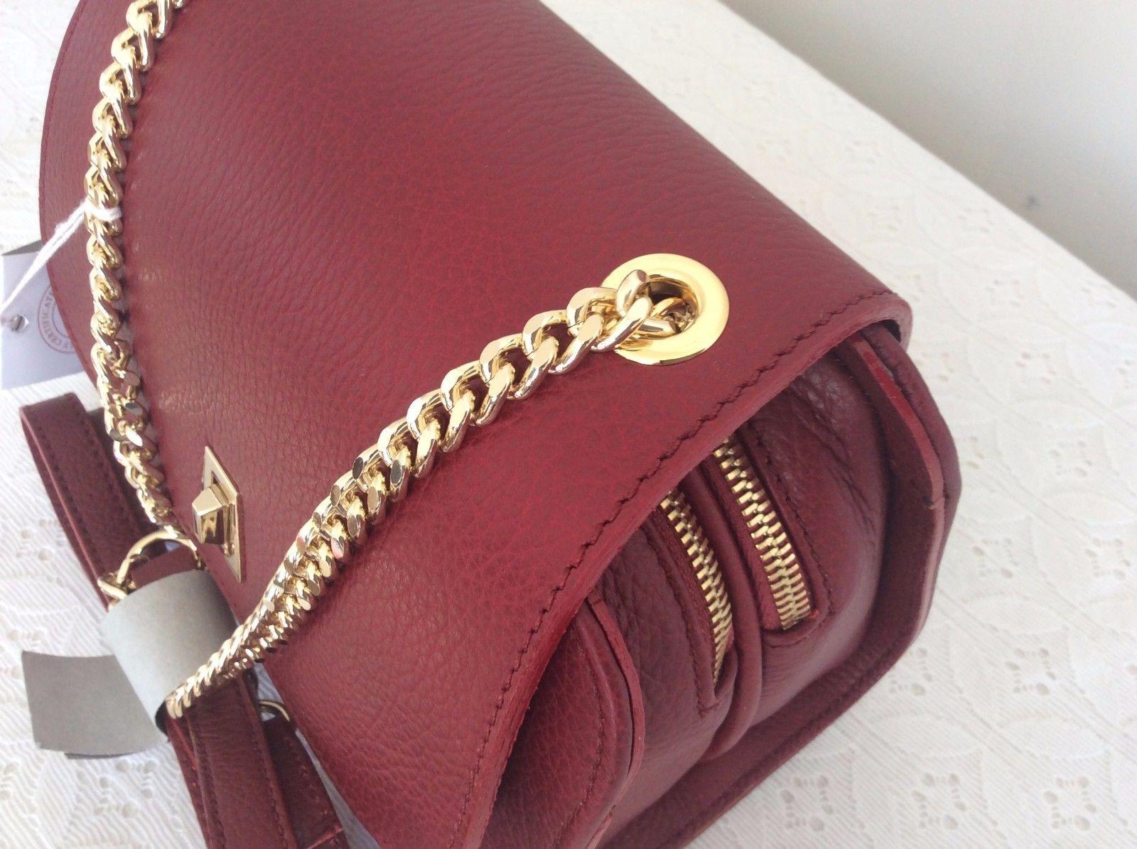 Carbotti Italian Leather Chain Clutch  Bag/Purse  Classic Timeless Fashion