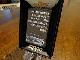 Cool Camaro Good Past Life Come Back As Your Self  Zippo Lighter - $47.45