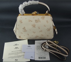 NWT Coach x Disney Frame Bag 23 with Dalmatian Print 68932 White SOLD OUT! - $657.84