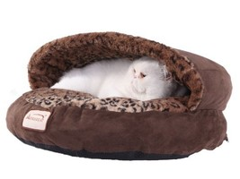 Armarkat Cat Bed, Mocha and Leopard - $41.92