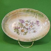 Antique (1885-1920) Franz Anton Mehlem Bonn Germany Oval Candy Dish - $3.95