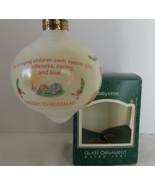Christmas Hallmark Keepsake 1987 Babysitter Teardrop Glass Christmas Orn... - $5.89