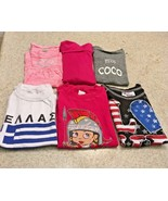 Lot Of Girl's T-Shirts  & 1 Dress & 1 Turtleneck Top (Size 4) - $11.30