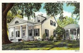 NATCHEZ, MS Mississippi TWIN OAKS~Built 1812~Dr Wittington Home c1940's ... - $3.70